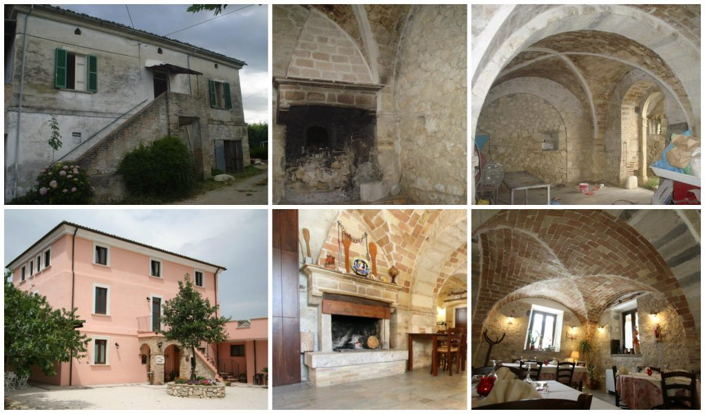 Casale Centurione Before After Collage